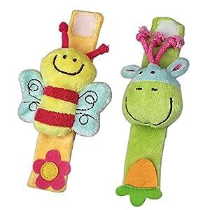 ELC Baby Wrist Rattles Strap Watch Soft Toys Infant Hand Finders Developmental