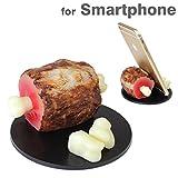 各種 スマートフォン 対応 食品サンプル スマホ スタンド (骨付き肉)