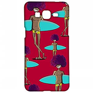 RANGSTER Surf Guy Pattern-Goa-Matte Finish Mobile Case For Samsung Galaxy Grand Prime (G530H)-Red