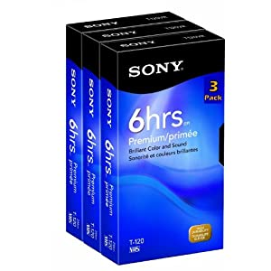 Sony Media 3T120VRC 3-Pack 120-Minute VHS Tapes