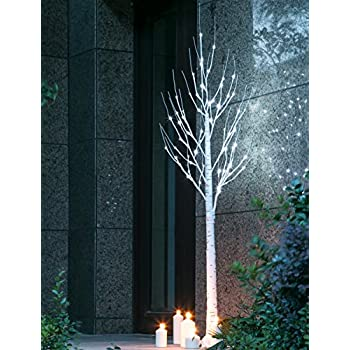 Twinkle Star Lighted Birch Tree 6 Feet for Home Wedding Festival Party Christmas Decoration (Birch Tree)