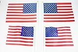Handheld Polyester Waving American Flag 4PCS for NO.7 NO.8