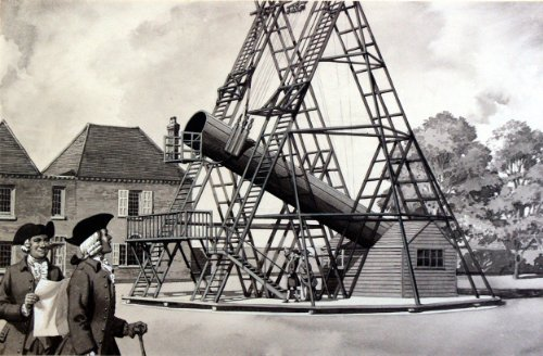 William Herschel And His Telescope