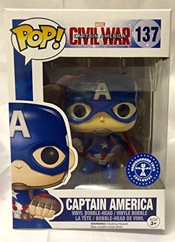 Pop! Marvel Captain America Civil War Vinyl Bobble-Head Captain America #137 EB Games / Gamestop Exclusive