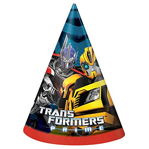 Unique Transformers Party Hats (8 Count)