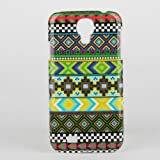 Karia Hybrid Green Tribal Pattern Hard Plastic Cover Case for Samsung Galaxy Note S4 I9505