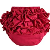 Buenos Ninos Girl's Cotton Shorts Top Baby Bloomer Diaper Covers Various Colors Red L Size: L(12-18month) Color: Red, Model: , Newborn & Baby Supply