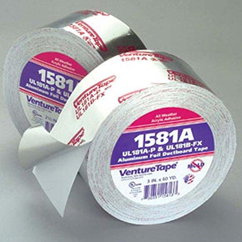 Venture Tape 1581A HVAC Foil Tape, 180' Length x 2-1/2