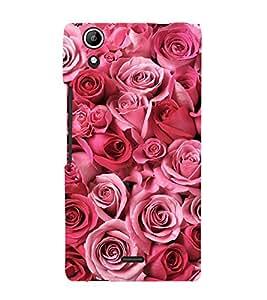 Pink Roses 3D Hard Polycarbonate Designer Back Case Cover for Micromax Canvas Selfie 2 Q340