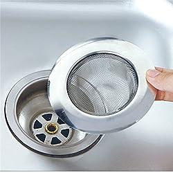 Stainless Steel Sink Strainer Kitchen Drain Basin Basket Filter Stopper Sink Drainer
