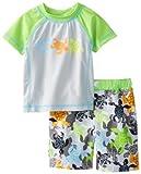 Bebé bollos Baby-Boys recién nacidos Rashguard y Swimtrunk Tortuga Swim, Verde, 3meses Color: Verde Tamaño: 3Meses infantil, bebé, niño