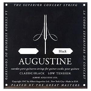 Augustine Classical Black SP für Konzertgitarre/Klassikgitarre 6th E-Einzelsaite