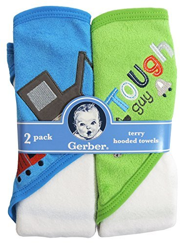 Gerber Hooded Towels, Trucks, 2-Count - 1