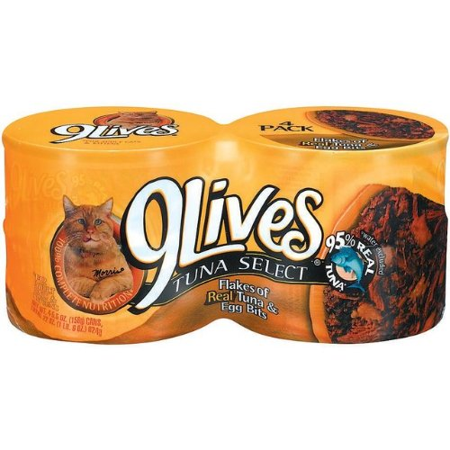 5.5 Oz Tuna and Egg Bites 9Lives Canned Cat Food Sold in pac