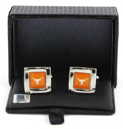 Texas Longhorns Team Logo NCAA Square Cufflinks Gift Box Set
