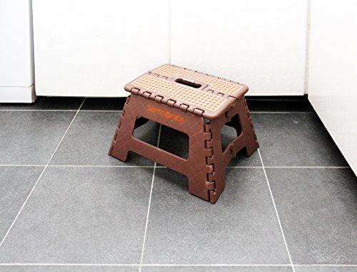 Samsonite Mini Folding Step Stool Brown Tan Hardware