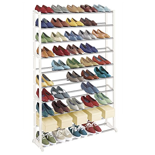 Best Rated 50 Pair Shoe Rack - Reviews of rolling and free standing shoe racks - cover