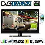 LED TV Backlight 15.6' Zoll 39,6cm Fernseher DVD DVB-C,...