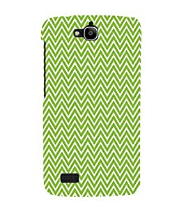 Green Chevron 3D Hard Polycarbonate Designer Back Case Cover for Huawei Honor Holly :: Honor Holly