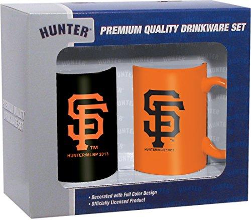 MLB San Francisco Giants Ceramic Mug Set (2-Piece), 11-Ounce, Clear (Sf Giants Coffee Mug Set compare prices)