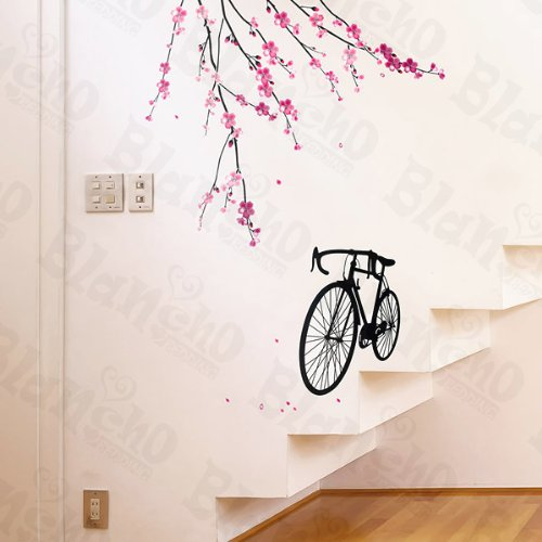 Bike & Flowers 2 - X-Large Wall Decals Stickers Appliques Home Decor front-68701