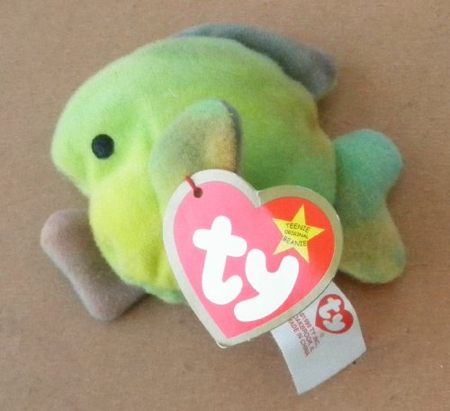TY Teenie Beanie Babies Coral the Fish Plush Toy Stuffed Animal - 1
