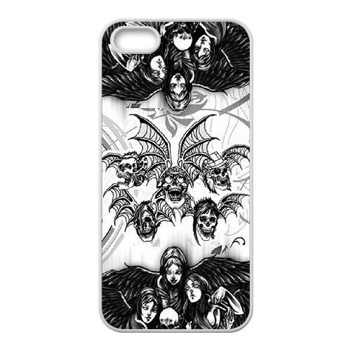 Avenged Sevenfold Deathbat cover iPhone 5 5s Cell Phone case cover white D2L6RXQSQC