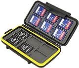 JJC Multi Memory Card Case MC-SD12 Speicherkarten Schutzbox für 12 Stück SDHC Cards - extreme Wasserdicht und Stoßfest Box Safe Tasche Etui Aufbewahrungsbox Hülle