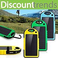 5000 mAh Dual-USB Waterproof Solar Power...