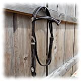 Westerntrense V-Shaped Headstall Dots