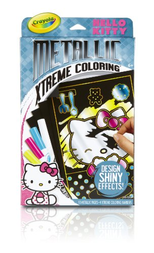 Crayola Metallic Extreme Hello Kitty Coloring Pages and Markers
