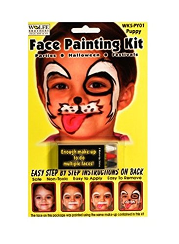 4 Pack Bird and Puppy Face Painting Kit (2 Birds/2 Puppies) - 1