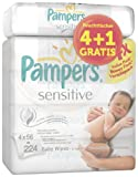 Pampers Feuchte Tücher Sensitive Promopack 4x+1 (280 Tücher)