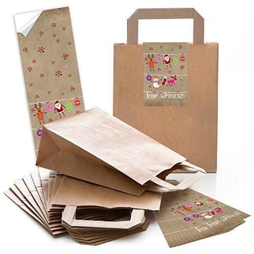 50-braune-papier-henkeltaschen-mit-boden-18-x-8-x-22-cm-mit-weihnachts-aufkleber-banderole-frohe-wei