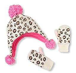 The Children\'s Place Pom Pom Hat and Mittens Set (12-24 months)