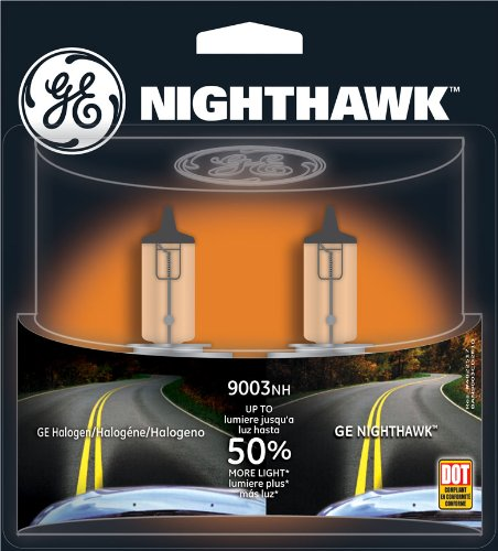 Ge Nighthawk 9003 Halogen Replacement Headlight Bulbs, (2 Pack) back-7480