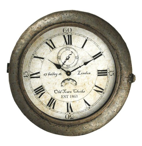 Bailey Street Industrial Rustic Large Round Wall Clock Price Anything Trong200520141