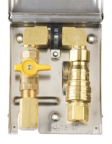 Burnaby Manufacturing Bbq-Ss-50 Gas Outlet Box With 1/2-Inch Inlet, 1/2-Inch Outlet And Stainless Steel Enclosure