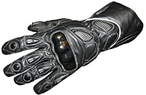 Motorcycle Gloves Carbon Kevlar Leather Black G66 by Jackets 4 Bikes