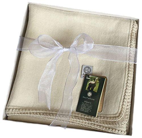 Alpaca Baby Blanket / Toddler Blanket, (100% Baby Alpaca) Crib Size 36in X 52in - 1
