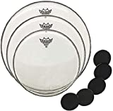 Remo Emperor Coated Pack 12/13/16' Fell-Set Tom + KEEPDRUM...