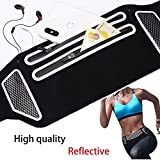 Oududianzi Running Belt,Travel Belt, Rainproof Adjustable Phone Pouch with Headphone Jack, Reflective Money Belts,Running Gear for Travel,for Men and Women Carrying Phone11 Pro Max,Cards and More