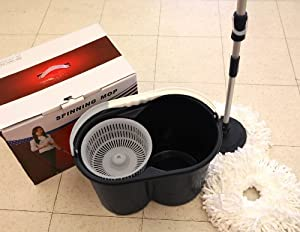 360 Rotating spinning & dry Magic Mop w/ 2 Mop Heads