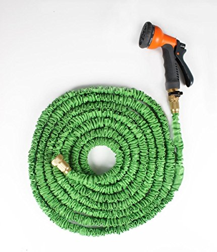 Ohuhu 100 feet garden hose expandable hose with brass connectors and sprayer for arbor day Expandable garden hose 100 ft