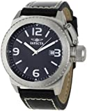 Invicta Men's 1108 Corduba Collection Black Dial Black Leather Watch