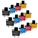INKMATE 12 Pack Compatible for Brot