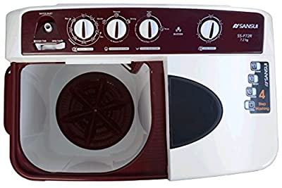 Sansui SS72FR-SA Semi-automatic Top-loading Washing Machine (7.2 kg, Dark Maroon)