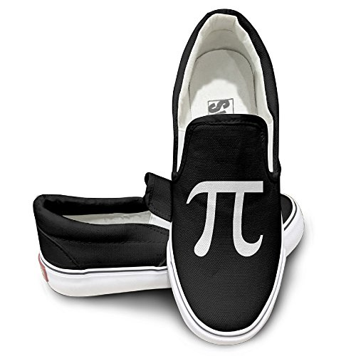 MGTER66 Pi Symbol Logo Street Dance Slip On Shoes Unisex Style Color Black Size 35 (State Street Shoes For Men compare prices)