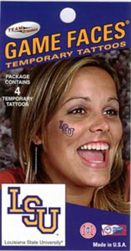 LSU Tigers Temporary Face Tattoos at Amazon.com