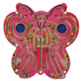 Wooden Butterfly Magnetic Labyrinth Wood Maze Metal balls game Puzzle Toy